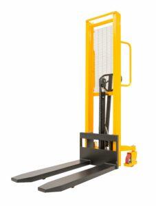 Elevatore a timone completamente manuale, stoccatore per pallet, 10 quintali, nuovo